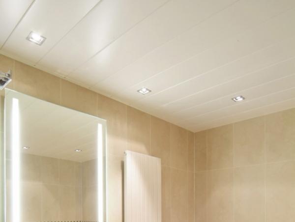 Потолок в ванную из пластика своими руками